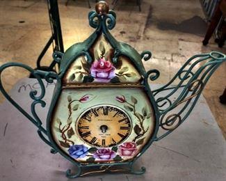"""Tea Pot"" Metal Clock"