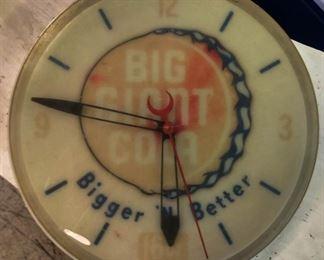 Vintage Big Giant Cola Clock