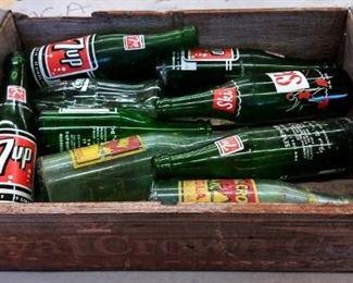 Vintage Royal Crown Cola Wood Crate, Vintage Soda Bottles