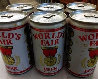 Vintage World's Fair Beer Cans