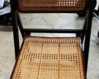 Vintage Cane Folding Chair