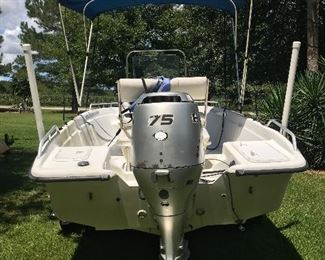 This item is offered for presale.  Inquiries can be made via text to 251.525.0966.  (2003 17' Carolina Skiff, Honda 75 Outboard Motor and Trailer.  Runs great.  Last on the water 8/3/19.)
