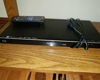 Panasonic DVD player with remote.