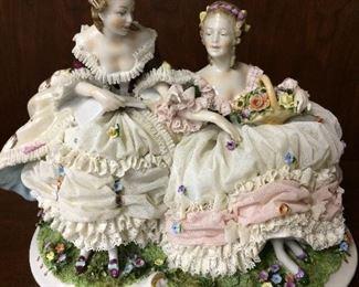 Exquisite pair of Victorian Ladies...rare antique find in mint condition