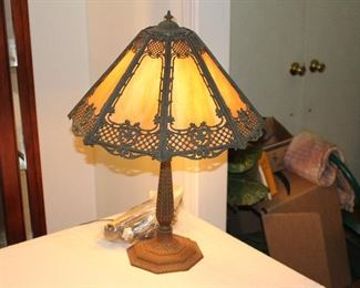 Slag lamp from the early 1900's. Great condition.