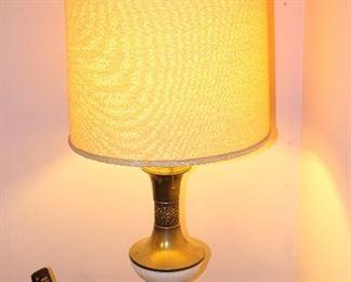 Mid century lamp/pair.
