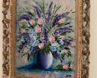 Petite oil painting