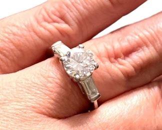 1.53 carat center stone diamond ring.