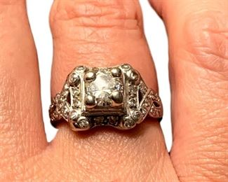 .83 carat platinum 1930's ring. Must be seen in person to appreciate!