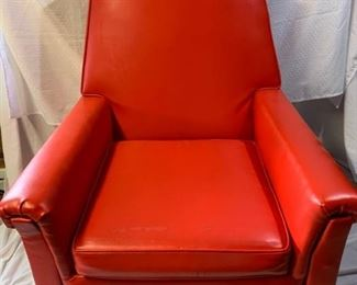 Red vinyl retro armchair https://ctbids.com/#!/description/share/208638