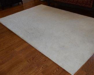 10' X 6 1/2' Plush White Shag Area Rug