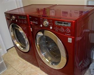 LG True Steam Washer and Dryer Set. Model #'s DLEX2450R and WM2450HRA