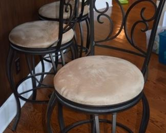 3 Swivel Black  Barstools
