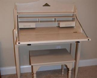 Hand Made White Desk