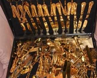 Another Set Gold Plated Flatware