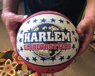 Autographed Ball from the Harlem Globetrotters