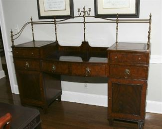 """LOVELY """"MAITLAND SMITH"""" SIDEBOARD WITH BRASS GALLERY"""