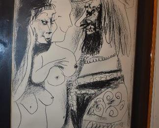 """Picasso Lithograph, Signed, """"Le Vieux Roi"""""""
