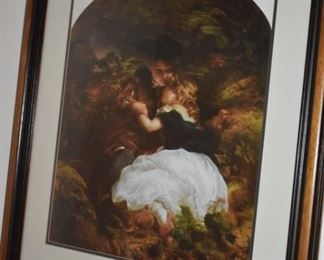 Lovely Framed Print of Victorian Boy and Girl