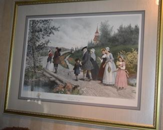 Gorgeous  After Etching by Jan R. King  of Sunday Morning in Sleepy Hollow (Washington Irving)