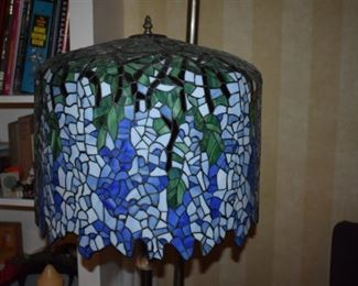 Absolutely Stunning Leaded Glass Floor Lamp! Each leaded piece painstakingly placed to make the Breathless Design above, as if hanging from an arbor!