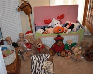 Vintage Children's Toys and Toy Chest