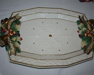 Fitz and Floyd Christmas Platter