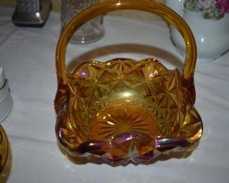 Vintage Glass Basket