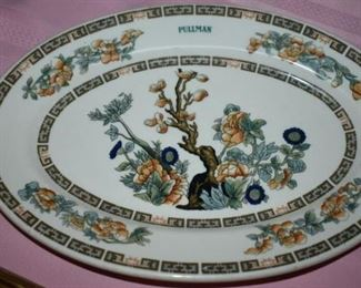 Rare Antique Pulman Indian Tree Platter