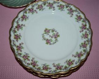 Set of Beautiful Antique Salad Plates