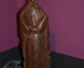 Hard Carved Wooden Statue