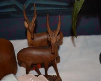 Hand Carved African Antelope - Springbok
