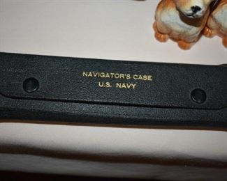 Very Rare WWII U.S. Navy Navigators Case with Instruments