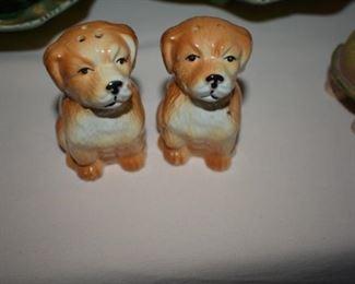 Adorable Vintage Puppy Salt and Pepper Shaker Set