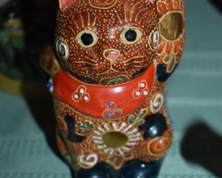 Satsuma Cat Figurine