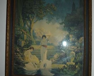 Antique Framed Print in Fox, Thompson tradition of painting