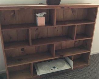 Custom book or display shelves and custom lamp
