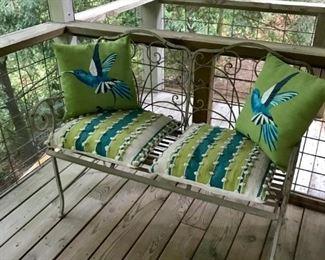 Cast iron love seat