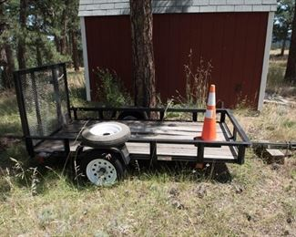 ATV Utility Cargo Trailer with Ramp