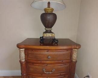 Night Stand & Lamp
