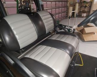 Interior Golf Cart- Upgraded Seats