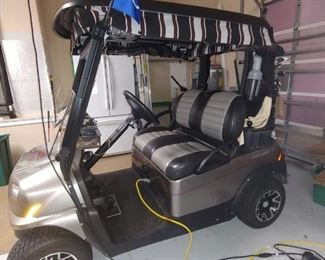 2017 Club Car Golf Cart-LOADED! Bought new & was not used for about 11 months so low miles/hours. Ball & Club Washer, Roll Down Weather Protection all the way around, Rear View Mirror Strip, Console with locked security storage, Upgraded Seats, Headlights, Street Driving Ready, attached Cooler, Charger, Battery Tube Filler.  Very Plush!  Has it all!