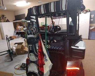 Back View Golf Cart