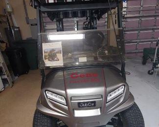 Front View Golf Cart