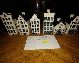 Delft's Blue Village Figurines