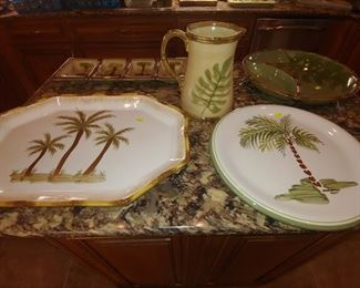 Palm Tree Platters & Serving Dishes