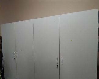 """3) 48"""" x 72"""" Locked Garage Cabinets (ONLY 2 LEFT!)"""