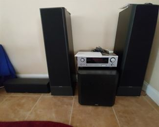 Quality POLK Speakers (LS90), Sub-Woofer  & Center Speaker (CS350)  plus a Denon Receiver (AVR-686)