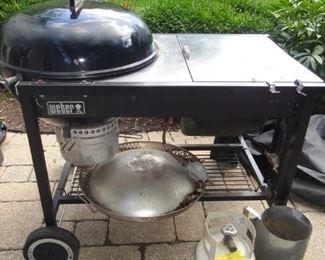 Weber Charcoal Grill, Propane gas start