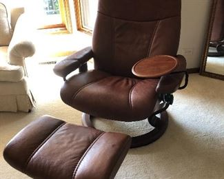 Leather chair & ottoman (Ekornes Stressless – Dania furniture)